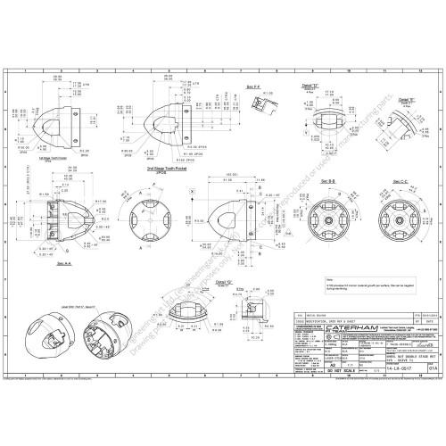 Caterham CT05 F1 Car Wheel Nut Retainer (2014) Florian Talou-Derible - 14-LH-0517 WHEEL NUT DOUBLE STAGE RET SYS