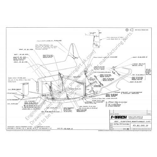 Ralt RT37 F3 Car Floor Installation (1992) Ian Bailey - R3-B0-0101-01 ASSY-FLOOR STAYS, MOUNTS & ANGLES-LHS