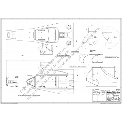 Lotus Racing T127 F1 Car Chassis Floor Mod (2010) S McKie - 10A-B-0927 FRONT FLOOR OUTER LEGALITY MOD V1.3
