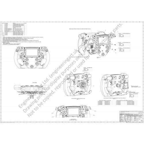 Caterham CT05 F1 Car Steering Wheel Assy (2014) A Dwight - 14-LS-0053 STEERING WHEEL ASSY